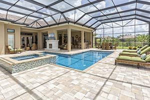 Screened Home Pool Patio
